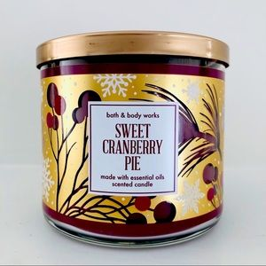 BBW Sweet Cranberry Pie Candle